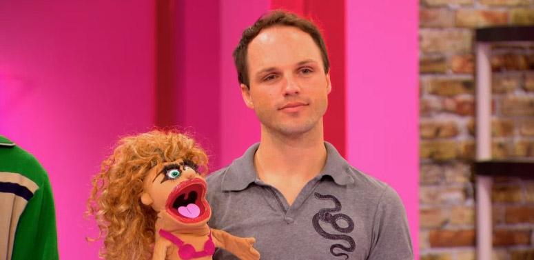 Derrick's puppet reaction RuPaul's Drag Race season 8 episode 8