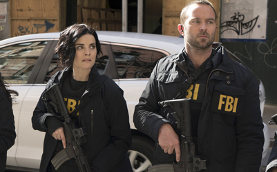 "BLINDSPOT -- ""Swift Hardhearted Stone"" Episode 120 -- Pictured: (l-r) Jaimie Alexander as Jane Doe, Sullivan Stapleton as Kurt Weller -- (Photo by: Peter Kramer/NBC)"