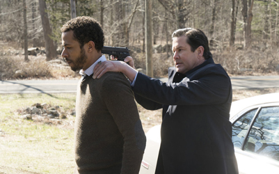 "BLINDSPOT -- ""Swift Hardhearted Stone"" Episode 120 -- Pictured: (l-r) Ukweli Roach as Dr. Borden, William Ragsdale as Franklin -- (Photo by: Peter Kramer/NBC)"