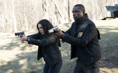 "BLINDSPOT -- ""Swift Hardhearted Stone"" Episode 120 -- Pictured: (l-r) Audrey Esparza as Tasha Zapata, Rob Brown as Edgar Reed -- (Photo by: Peter Kramer/NBC)"
