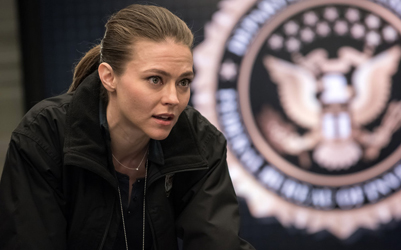 "BLINDSPOT -- ""Why Await Life's End"" Episode 123 -- Pictured: Trieste Kelly Dunn as Allison Knight -- (Photo by: Jeff Neumann/NBC)"