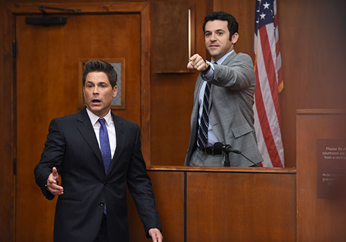 Case Closed. FOX isn't renewing The Grinder, starring Rob Lowe and Fred Savage after the family legal comedy's first season. Image: Ray Mickshaw.