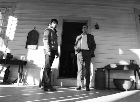 Outcast stars Patrick Fugit, Philip Glenister