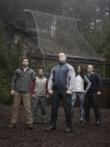 AMERICAN GRIT: L-R: Noah Galloway, Nick ÒThe ReaperÓ Irving, John Cenaª, Tawanda ÒTeeÓ Hanible and Rorke Denver. AMERICAN GRIT, a new, 10-episode competition series starring WWE¨ Superstar John Cenaª and an elite group of mentors from the nationÕs most exclusive military units Ð including Navy Seal Commander Rorke Denver, Army Sergeant Noah Galloway, Marine Gunnery Sergeant Tawanda ÒTeeÓ Hanible and Army Ranger Nick ÒThe ReaperÓ Irving. AMERICAN GRIT will debut Thursday, April 14 (9:00-10:00 PM ET/PT). Cr: Michael Lavine/FOX