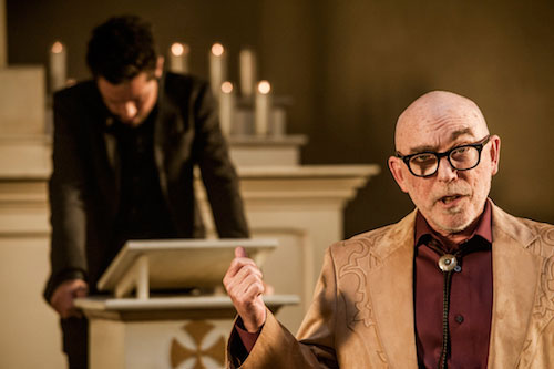 Dominic Cooper as Jesse Custer, Jackie Earle Haley as Odin Quincannon - Preacher Season 1