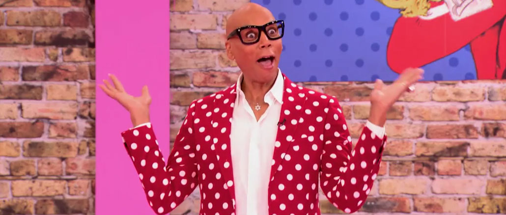 RuPaul's Drag Race All Stars season 2 episode 2 RuPaul & his polka dot suit
