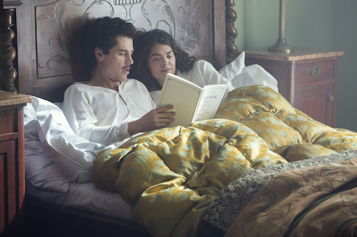 Johnny Flynn (Albert Einstein) with Samantha Colley (Mileva Maric) in National Geographic's Genius