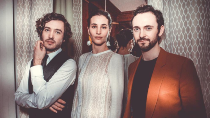 Alexander Vlahos, Elisa Lasowski, and George Blagden at Cannes