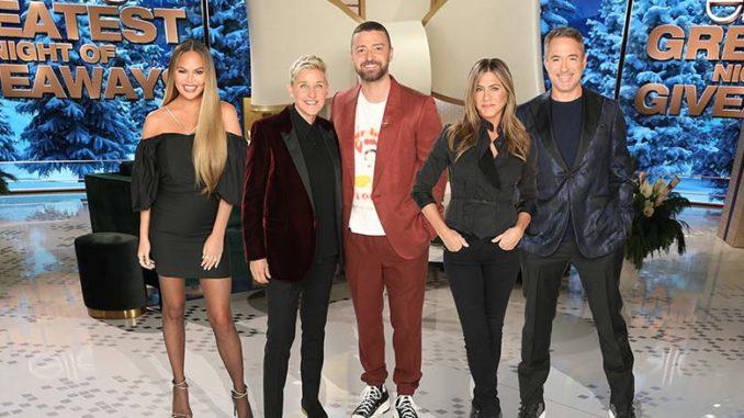 Tuesday, Dec  10: 'Ellen's Greatest Night of Giveaways